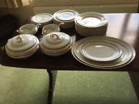 Lasolware china white with vintage gold border