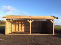 24ft x 12ft , car port , double field shelter , log store , garden shed