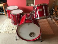 Vintage 80's 5 pcs PEARL BLX Drum kit (Birch Shell) Sequoia red