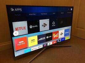 "ULTRA THIN - Samsung 40"" Smart 4k UHD -1500hz- HDR - CRYSTAL COLOUR wifi TV - WARRANTY"