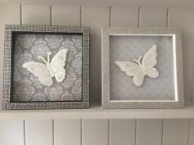 Hand made butterfly box frames