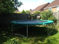 Trampoline with safety netting (not in photo) less than 1year old