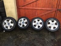 FACTORY FORD GALAXY ALLOY WHEELS WITH WINTER TYRES