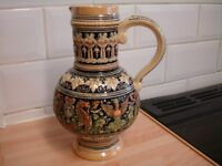 ANTIQUE EMBOSSED GERMAN WINE/WATER JUG A1 CONDITION