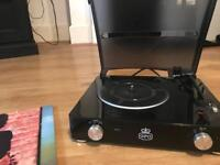 GPO digital Record Player with Vinyls