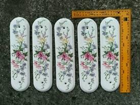 Ceramic door finger plates