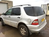 Mercedes ML270 automatic gearbox spare parts available