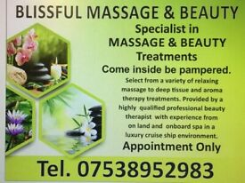 WELCOME TO BLISSFUL MASSAGE AND BEAUTY HAPPY TO PAMPER YOU IN MY SALON