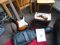 SPIDER ELECTRIC GUITAR&KUSTOM SIENNA 16 AMP