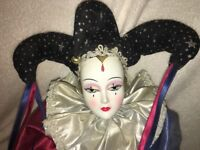 Extremely rare porcelain Jester Doll