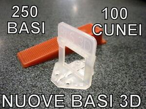 250 nuove basi 3d 100 cunei raimondi distanziatori for Distanziatori piastrelle 1 mm