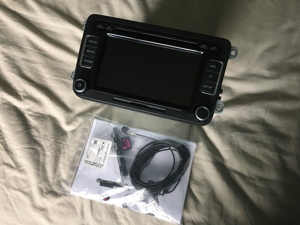 Genuine VW RCD 510 DAB Touchscreen Head Unit with Kufatec DAB Retrofit Kit for Golf MK6 and others