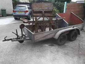 3.5 ton galvanised plant trailer.