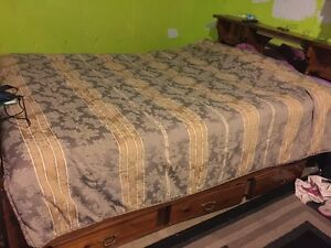 Great condition queen size bed frame and mattress  Kitchener / Waterloo Kitchener Area image 2