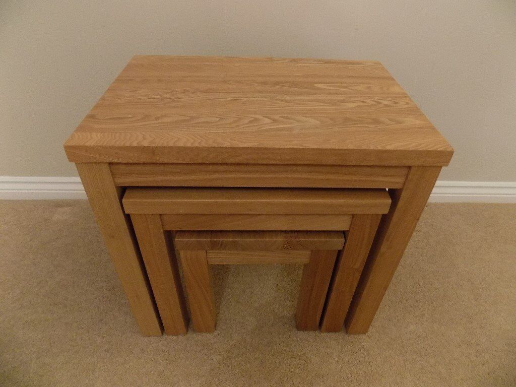 Nest of Solid Oak Tables