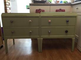 Pretty pair of side/small drawers