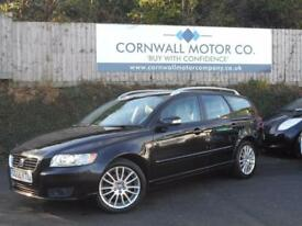 VOLVO V50 2.0 SE LUX D 5d 135 BHP NEW SERVICE AND JUNE MOT (black) 2008