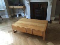 Habitat Hana Coffee Table - six drawer unit, good condition