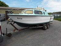21ft Norman boat with 60hp Yamaha engine and trailer