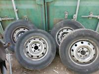 Iveco daily tyres and rims fully pumped up