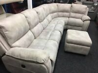 New/Ex Display LazyBoy Electric Recliner Corner Sofa + Footstool (Left or Right Side Corner)