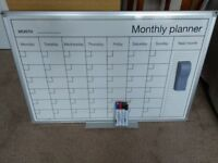 Whiteboard Monthly Planner with accessories