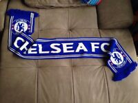 New CHELSEA FC Football Club DELTA Airlines Memorabilia Blue Scarf