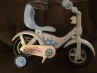 Baby born dolls bike