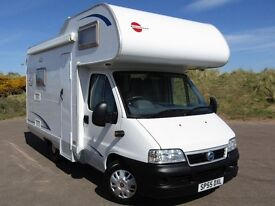 BURSNER A530 MOTORHOME 4 BERTH HARDLY BEEN USED