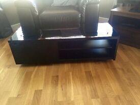 NEXT Black high gloss tv unit
