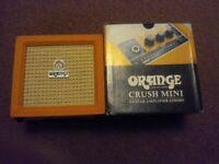 Orange crush mini practice amplifier.