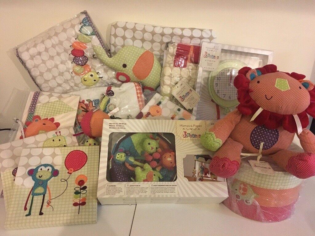 Mamas and Papas Jamboree nursery set bundle