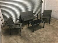 FREE DELIVERY GREY GARDEN RATTAN SOFA, CHAIRS & TABLE SET GOOD CONDITION