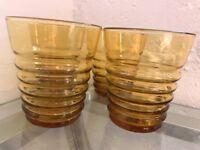Vintage amber tumblers