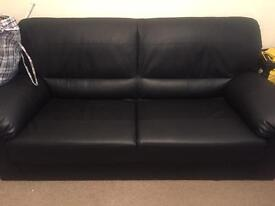 3+2 Seater Sofa Leather look very Good Condition 6 month old
