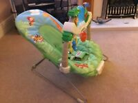 Fisher Price rainforest baby bouncer for sale very good condition