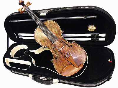 Special Edition - 4/4 Hand-Made Antique Style Violin +Bow +Rosin +Case  Limited  on Rummage
