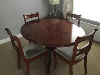 REPRODUCTION DINING TABLE & CHAIRS
