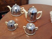 1950s style Teapot, Coffee pot, Milk Jug and Sugar Bowl
