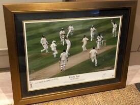 Freddie Flintoff signed Ashes 2005 photo