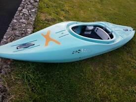 Tek 240 Xcess kayak. Duck egg blue