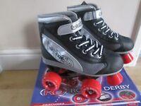 Boys Quad Roller Skates, size uk 1 eu 33, excellent condition like new