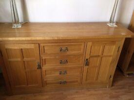 John Lewis solid european oak side board