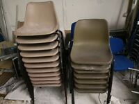 35 x Plastic Chairs (USED, varying conditions)