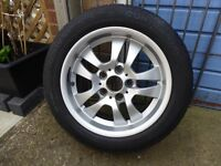 BMW alloy wheel and tyre 3 series E46 may fit others 7J X 16 5stud 205/55R16 91V