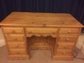Lovely solid pine dressing table / desk