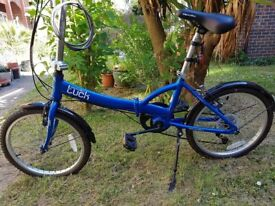 Apollo folding bicycle blue, good condition. £95.00