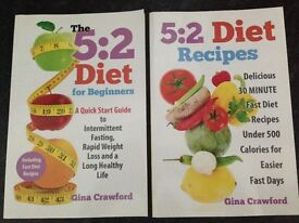 5:2 diet book and 5:2 recipe book. Both for £5.00
