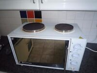table top plug in electric double plate cooker with oven suite student accomadition