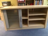 TV unit with shelves and a cupboard